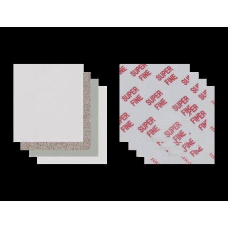Eponge abrasive MEDIUM sur mousse  140 x 115 x 6 mm P150-P180