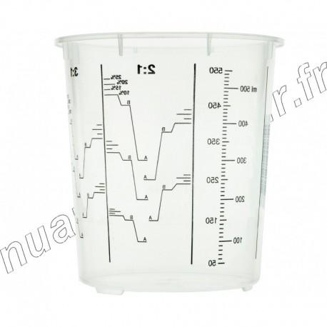 Gobelet de préparation de mélange en plastique 650ml