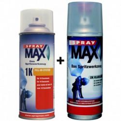 Aérosol SPRAY MAX à la teinte 400ml 680070+ 1 vernis 2K 400ml 680061